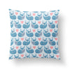 Whale Kids Throw Pillow-W.FRANCIS
