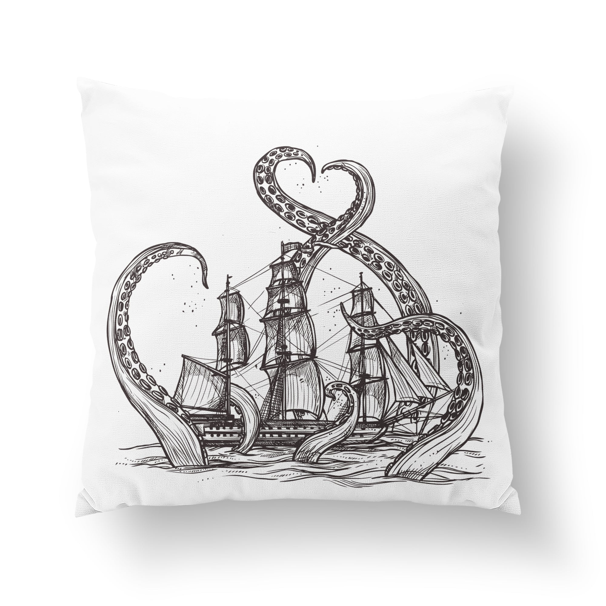 Kraken Throw Pillow-W.FRANCIS
