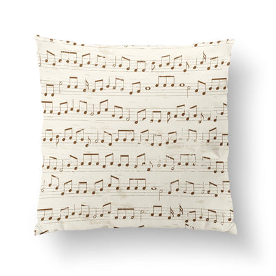 Sheet Music Throw Pillow-W.FRANCIS