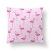 Pink Flamingo Throw Pillow-W.FRANCIS