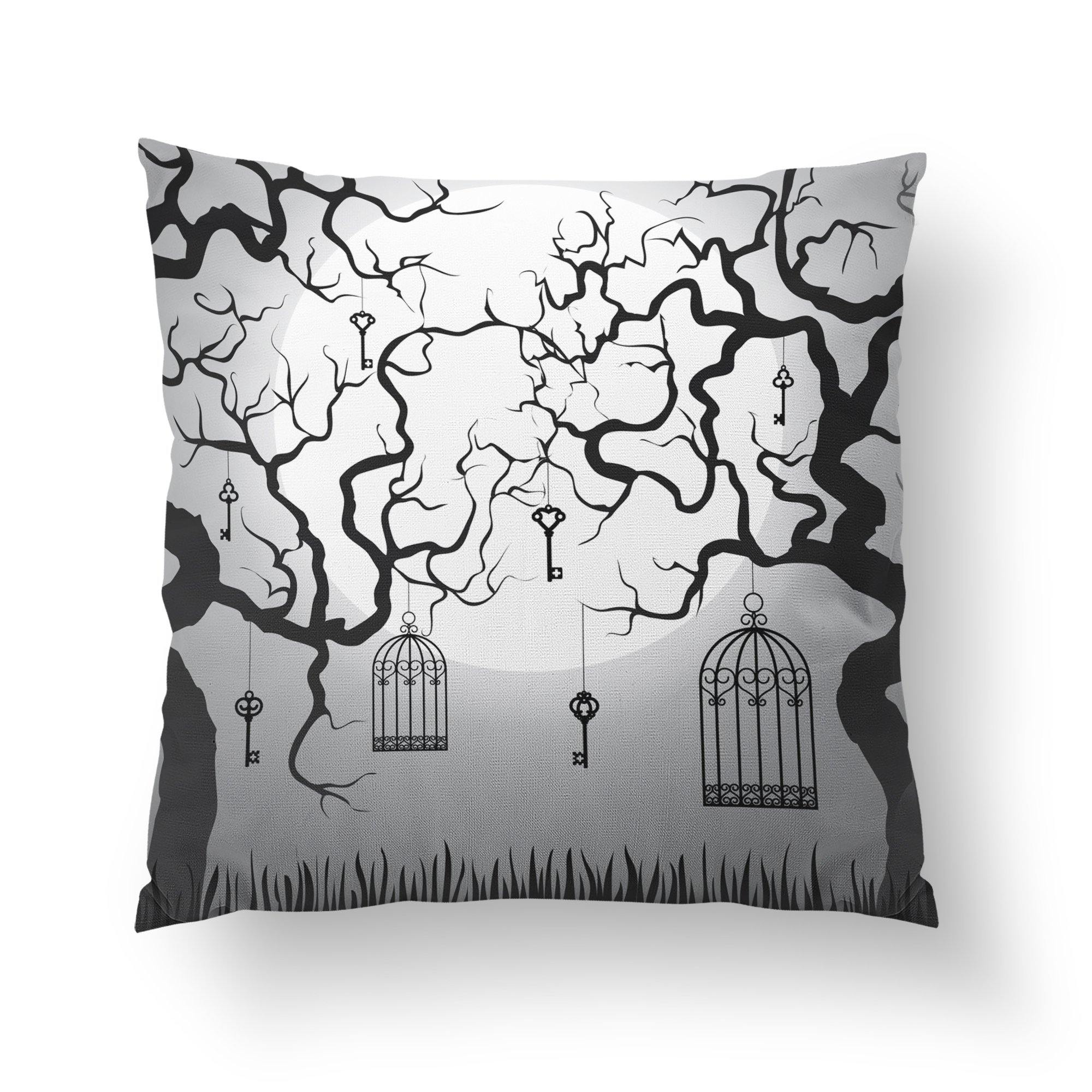 Elegant Halloween Throw Pillow