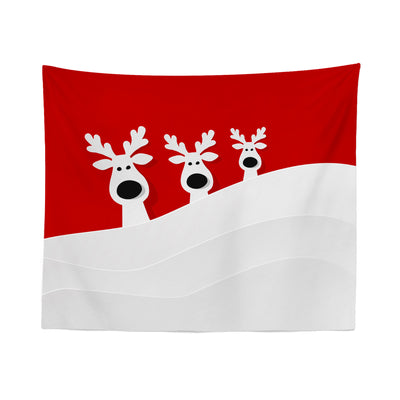 Christmas Reindeer Wall Tapestry