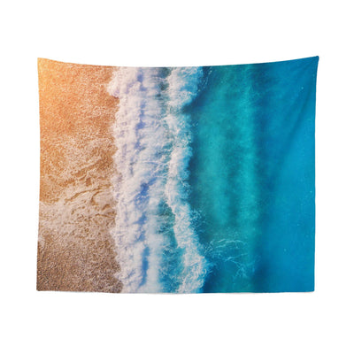 "Beach ""Aerial View"" Tapestry"