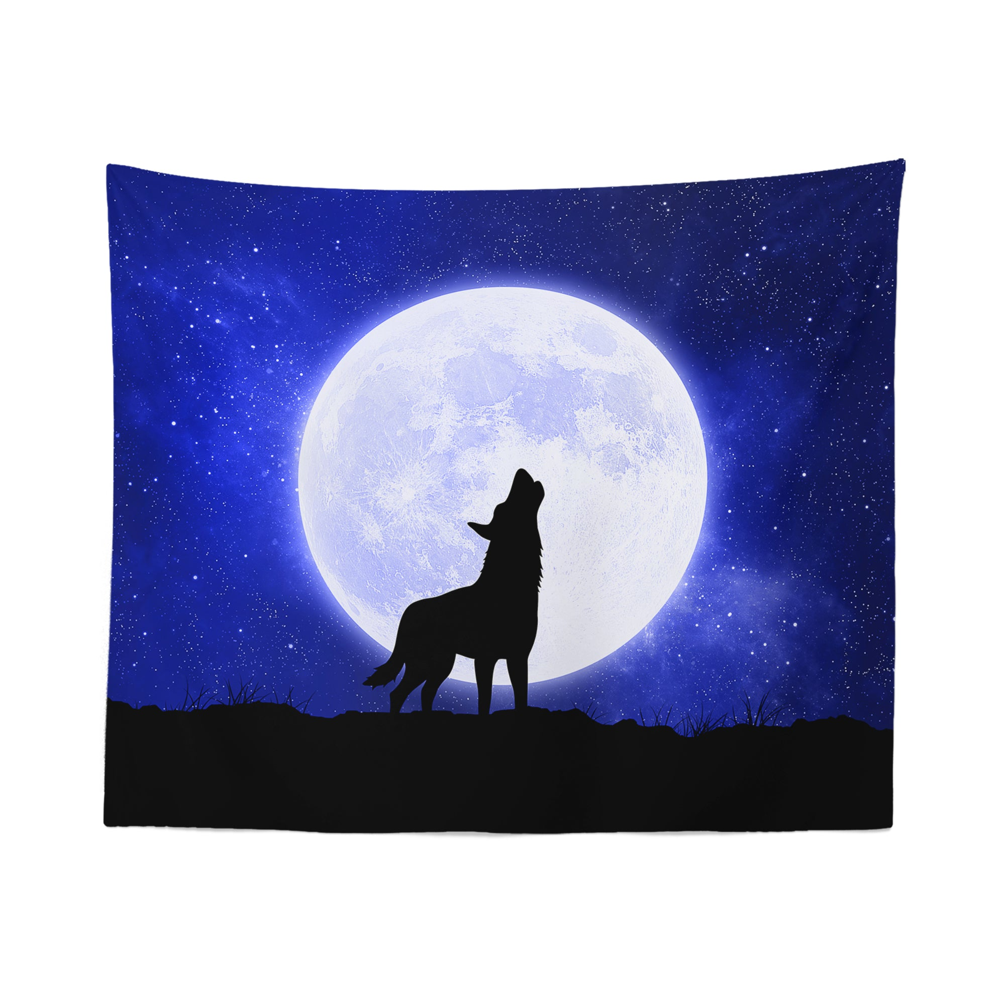 Wolf Blue Moon Tapestry