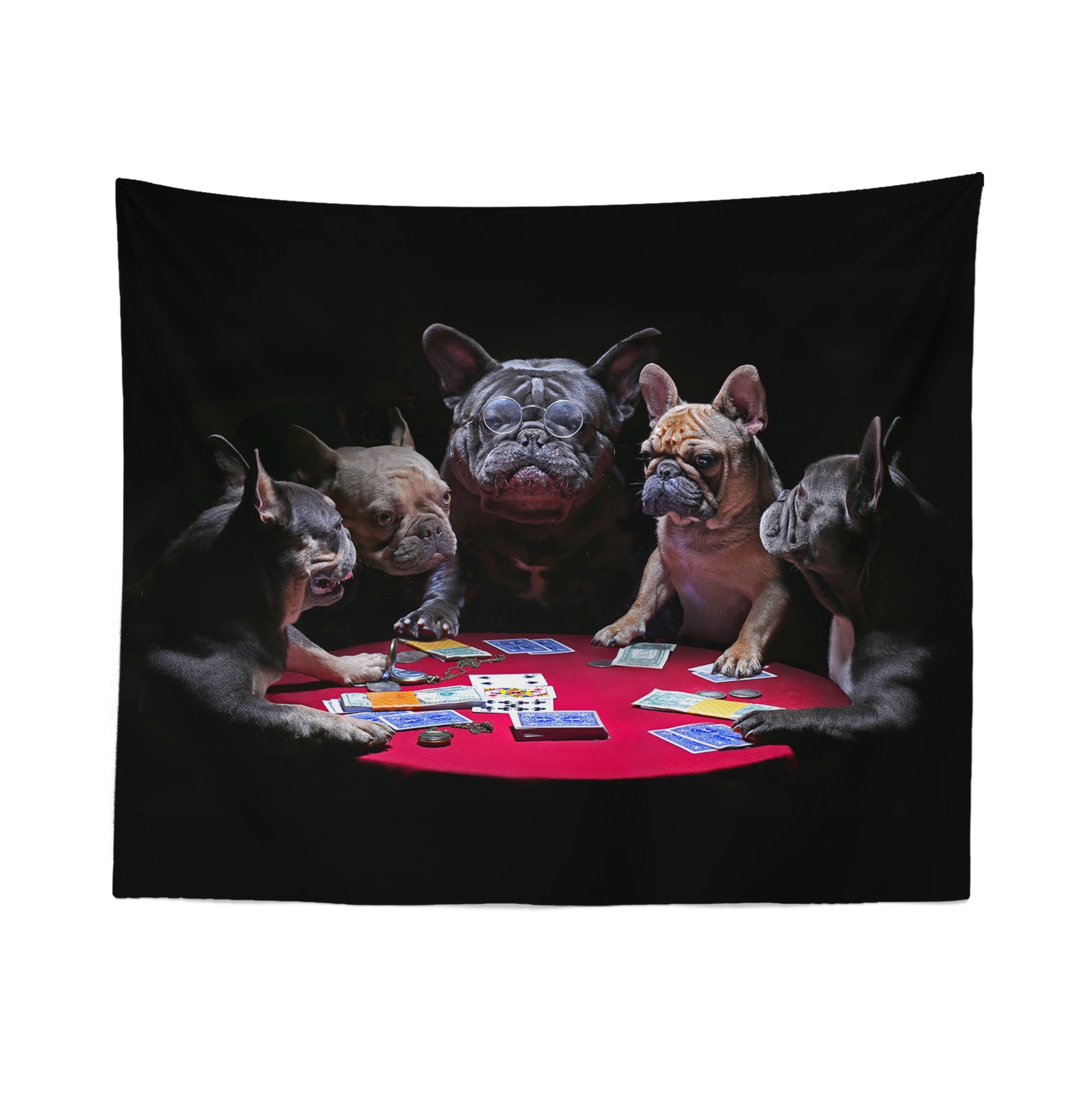 Dogs Playing Poker Tapestry
