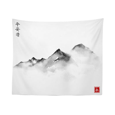Japanese Mountain Wall Tapestry