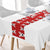 Red Christmas Reindeer Table Runner