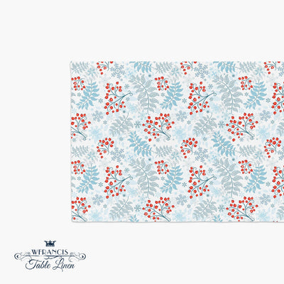 Winter Berry Holiday Table Runner-W.FRANCIS