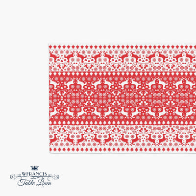 Reindeer Table Runner-W.FRANCIS