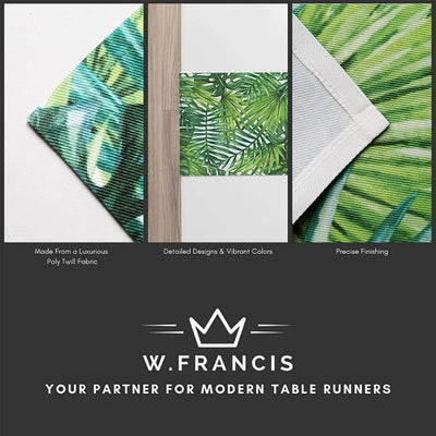 Black and White Table Runner-W.FRANCIS