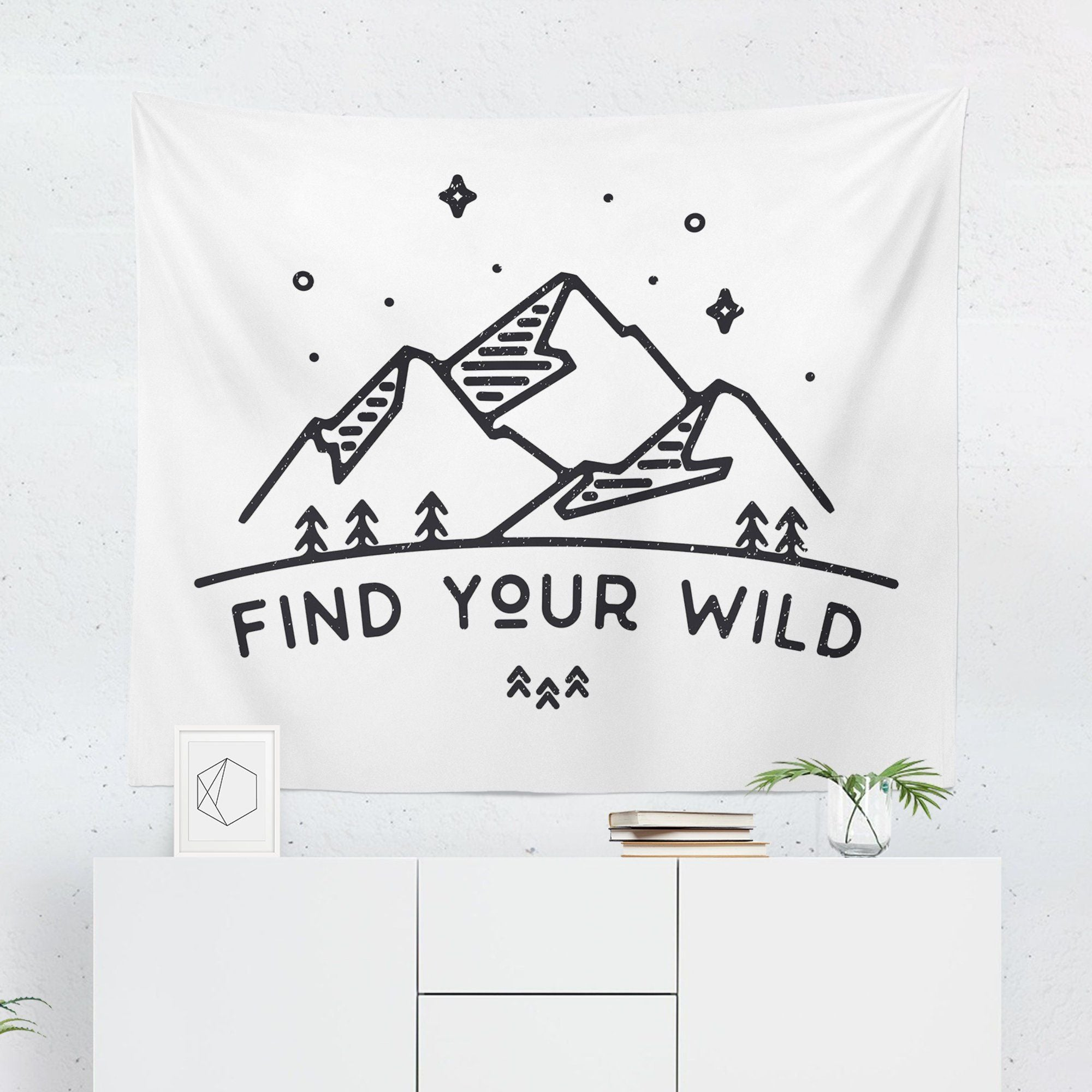 "Adventure ""Find Your Wild"" Quote Tapestry - Tapestries - W.FRANCIS"