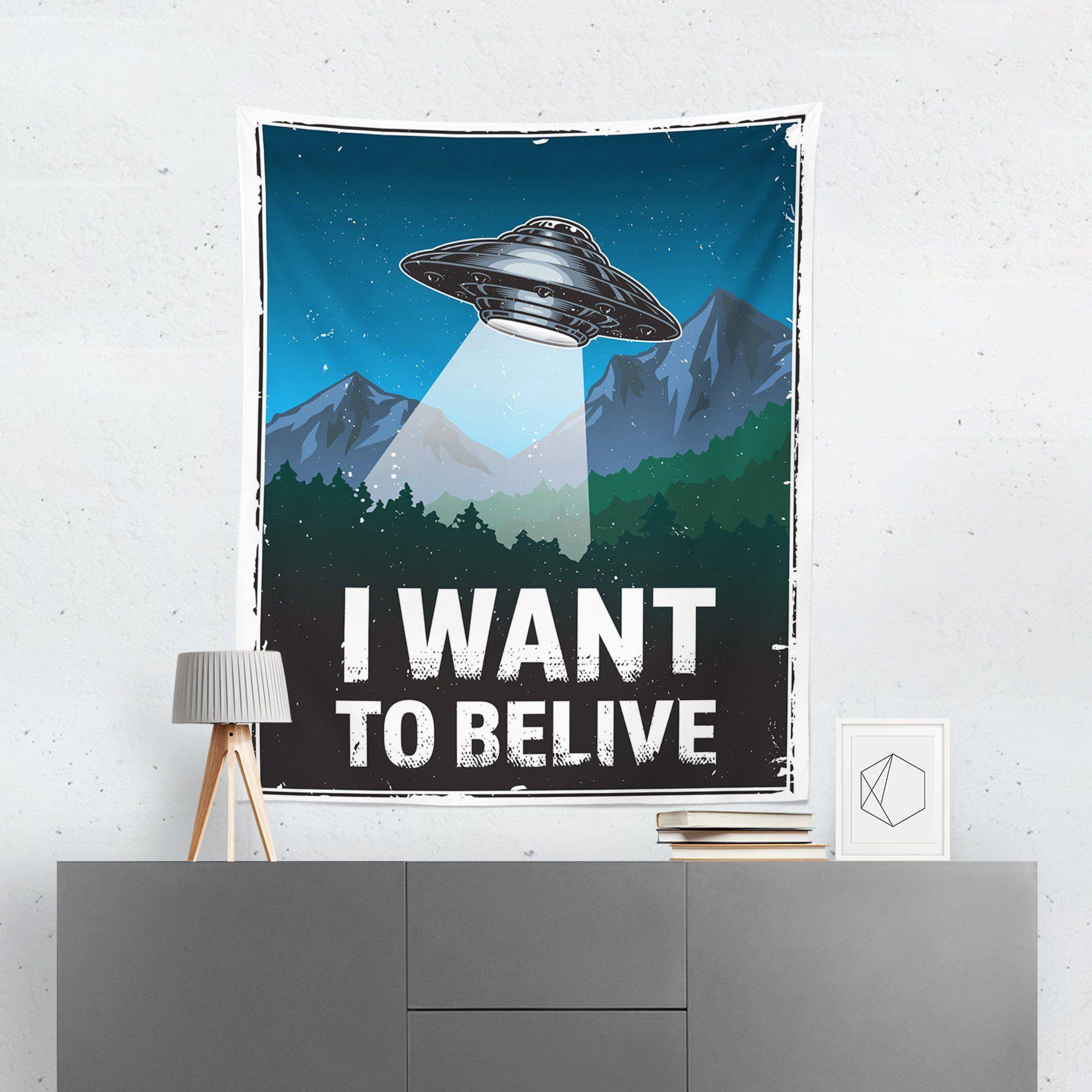 "Alien ""I Want To Believe"" Tapestry-W.FRANCIS"