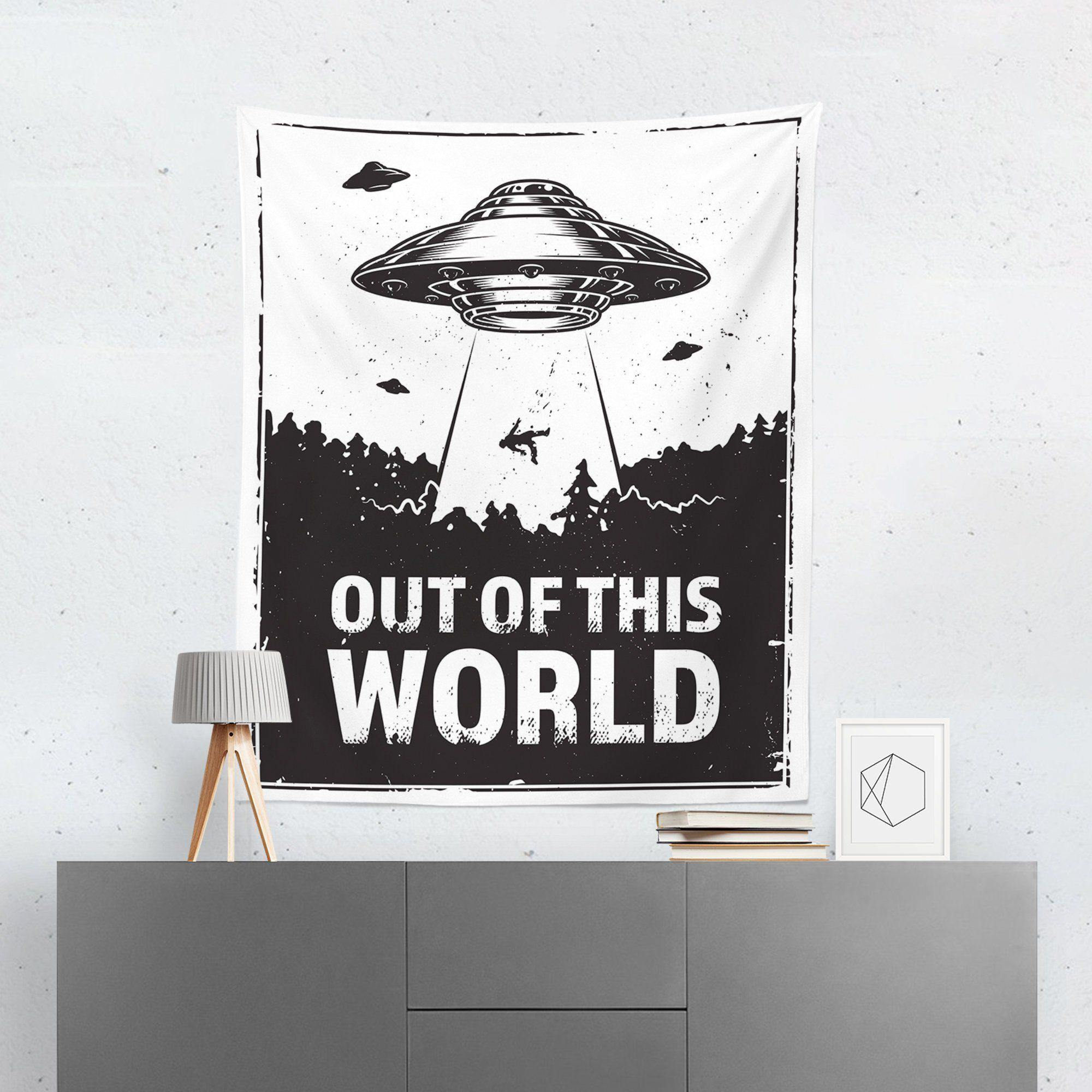 "Alien ""Out Of This World"" Tapestry-W.FRANCIS"
