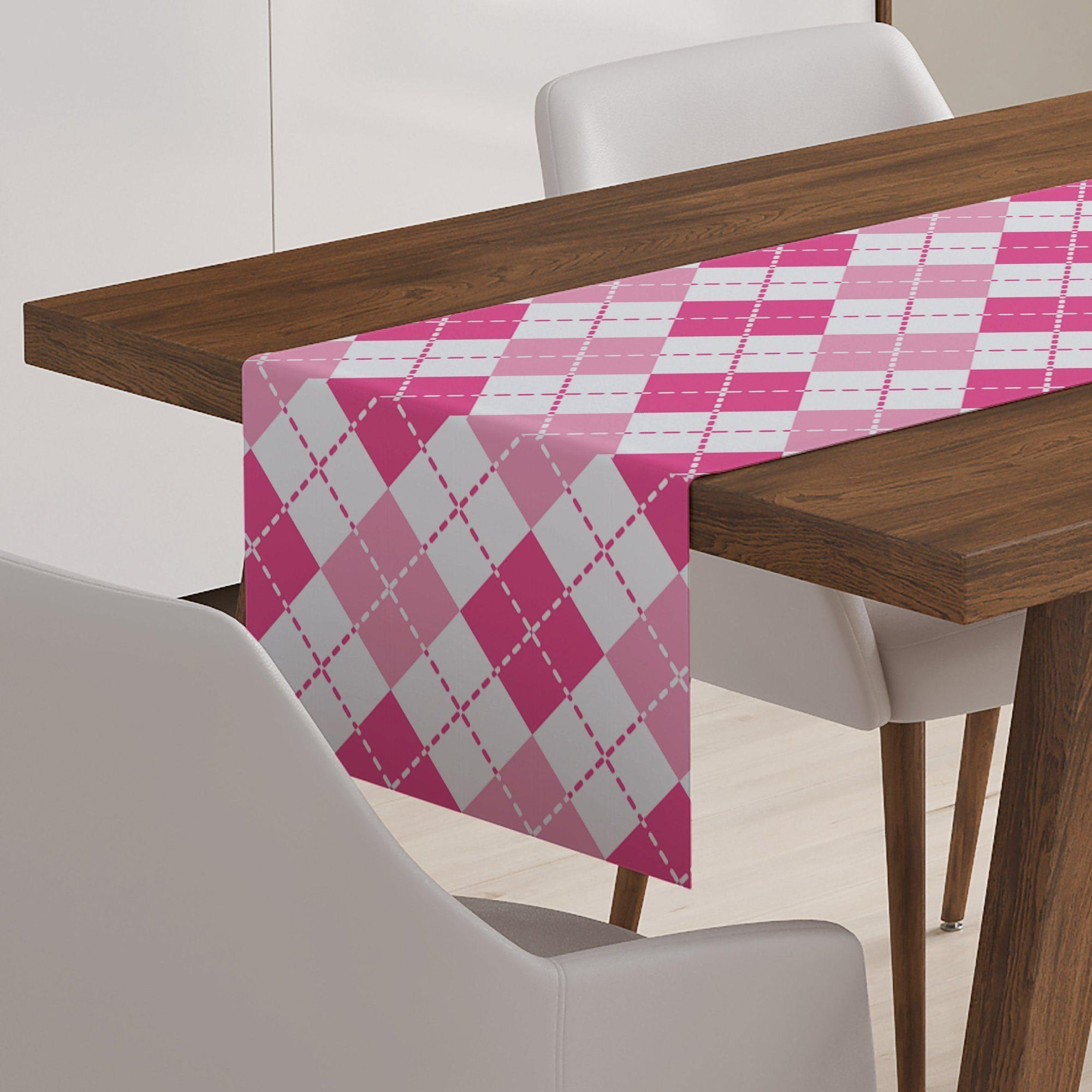 Argyle Table Runner-W.FRANCIS