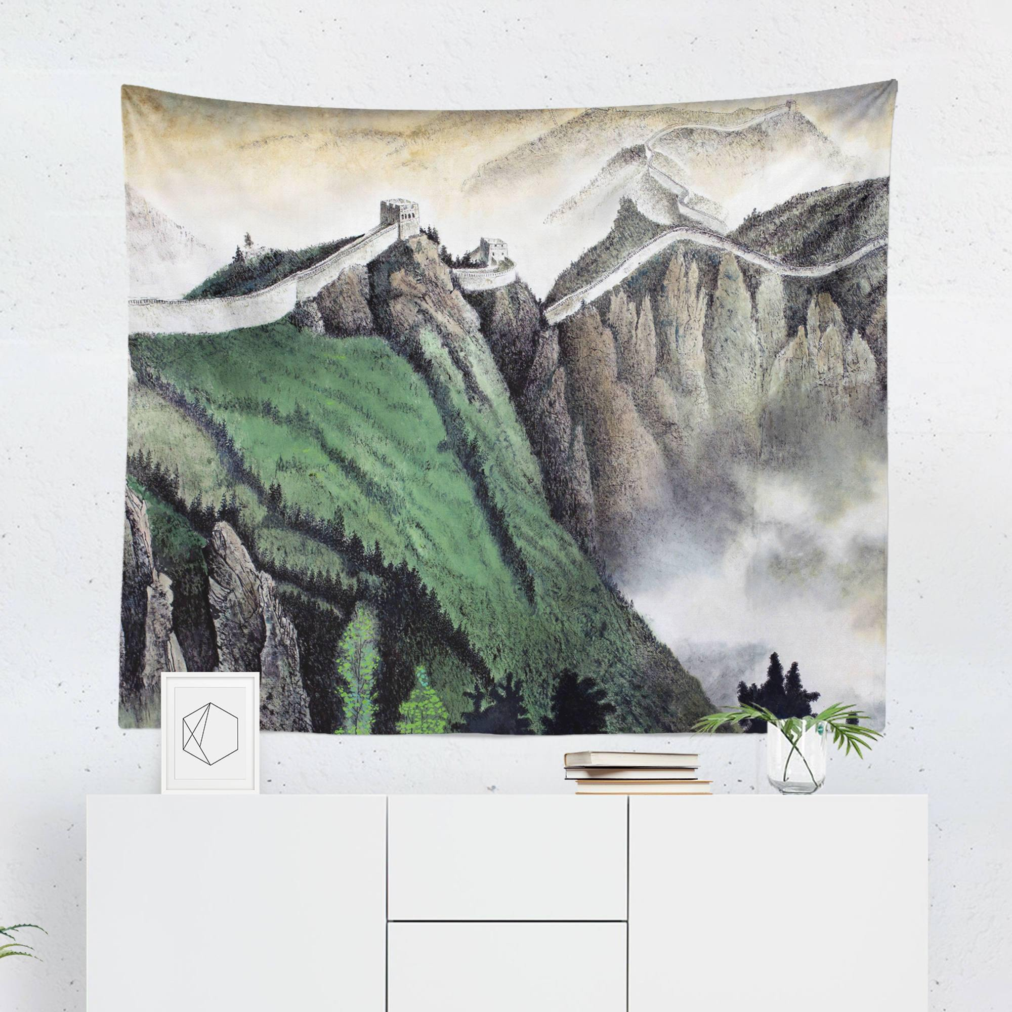 "Asian ""Great Wall"" Tapestry-W.FRANCIS"