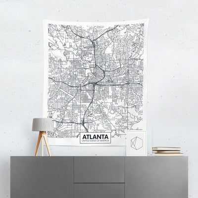 Atlanta City Map Tapestry-W.FRANCIS