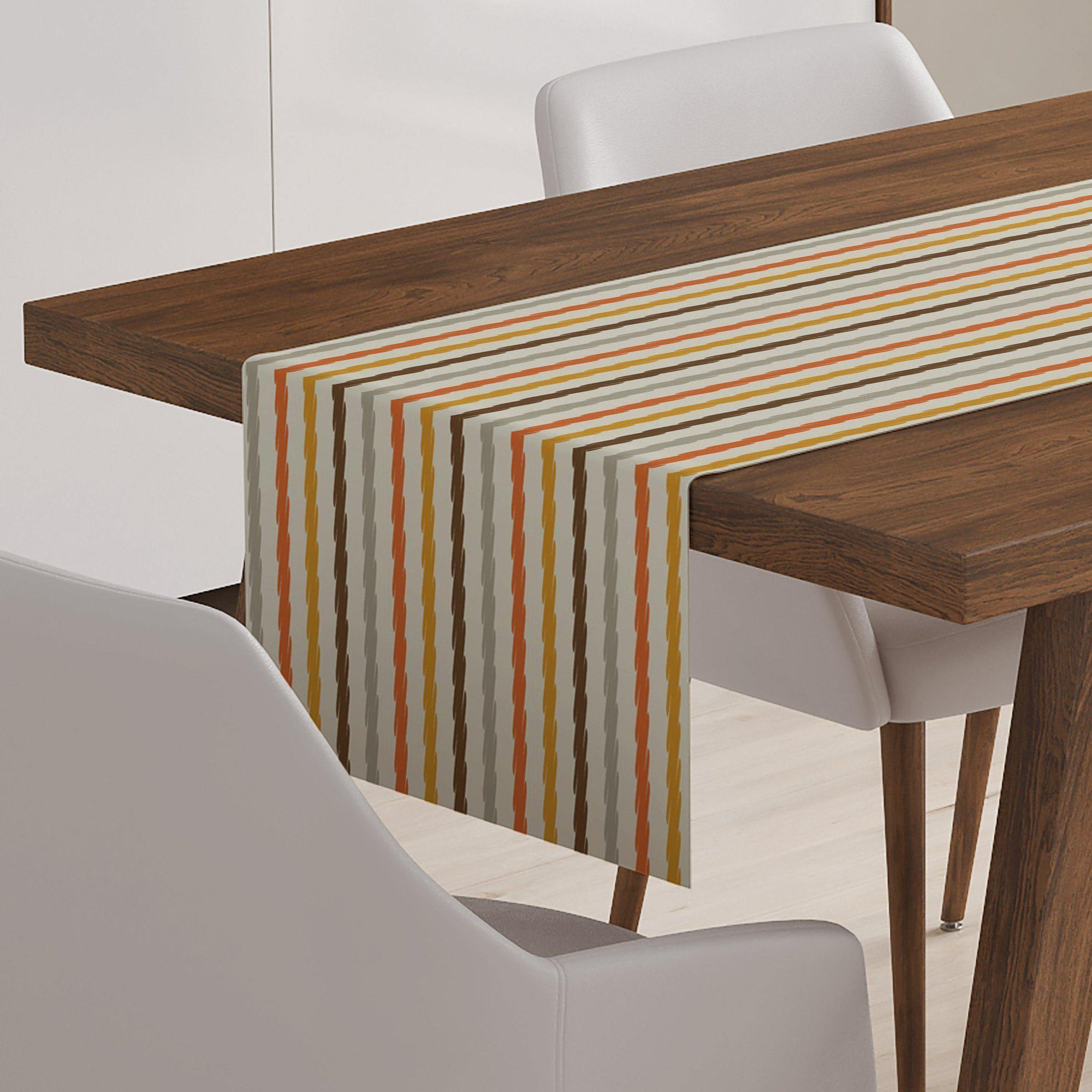 Autumn Stripe Table Runner-W.FRANCIS