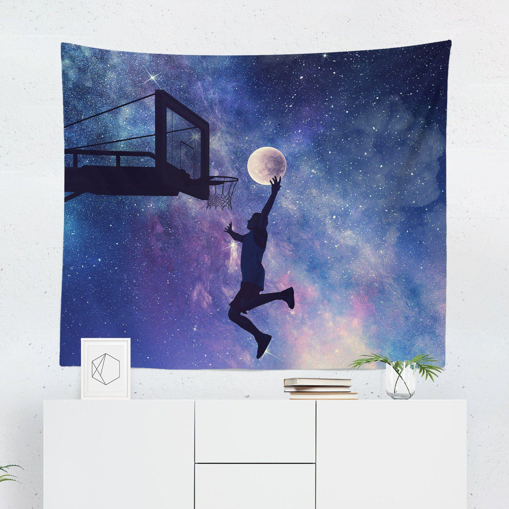 Basketball Space Tapestry-W.FRANCIS