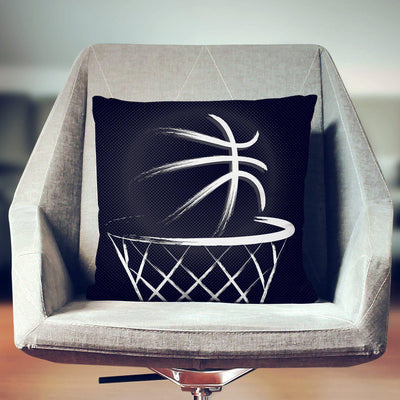 Basketball Throw Pillow-W.FRANCIS