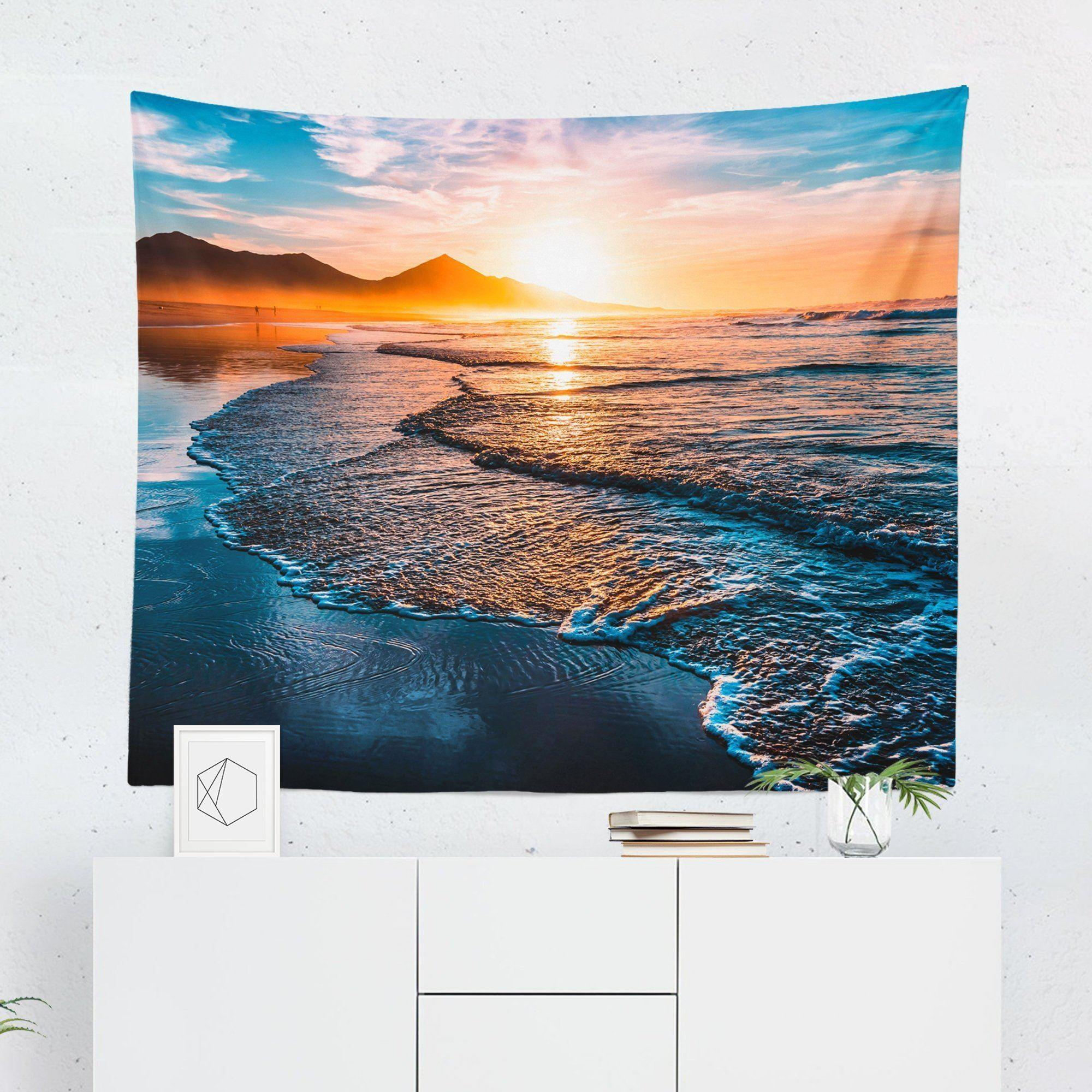 "Beach ""Sunset"" Tapestry-W.FRANCIS"