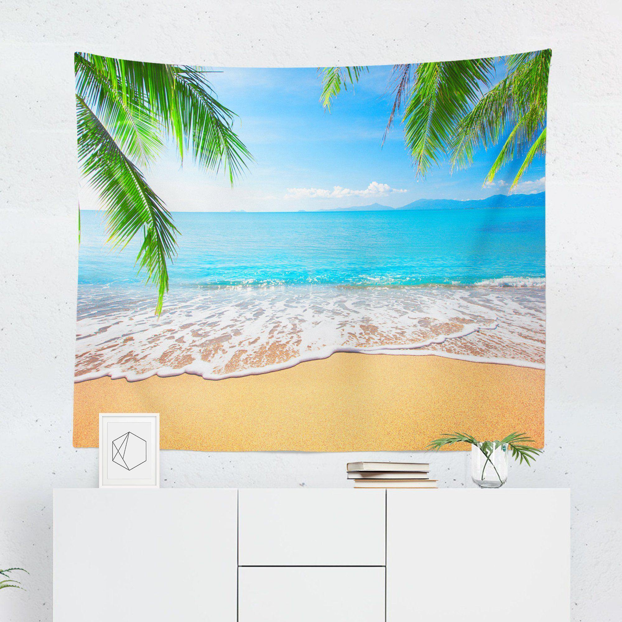 "Beach ""Tropical Island"" Tapestry-W.FRANCIS"