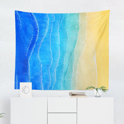 "Beach ""Watercolor Aerial"" Tapestry-W.FRANCIS"