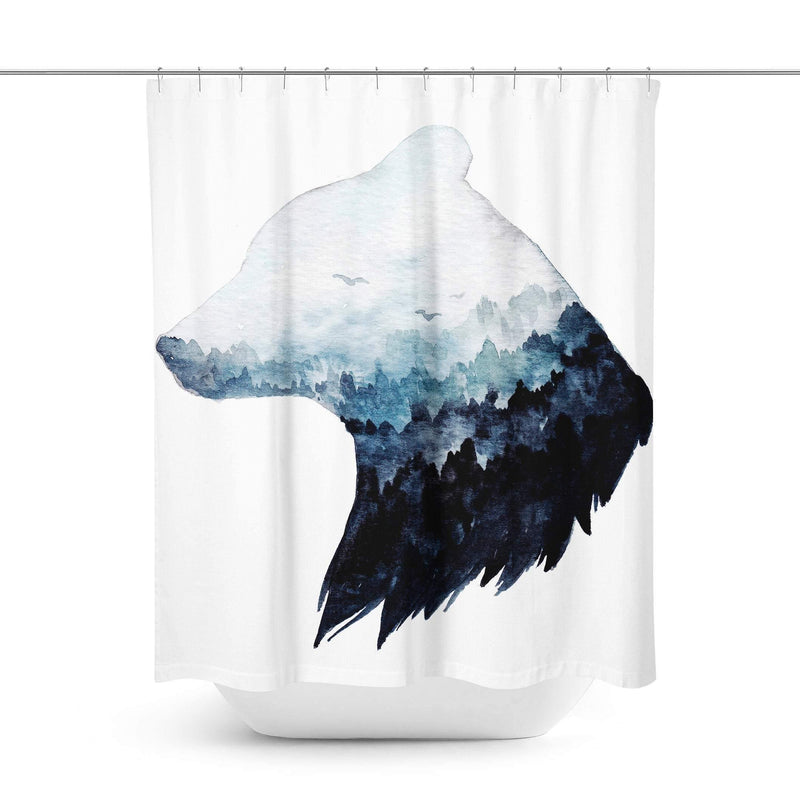 Bear Art Shower Curtain-W.FRANCIS
