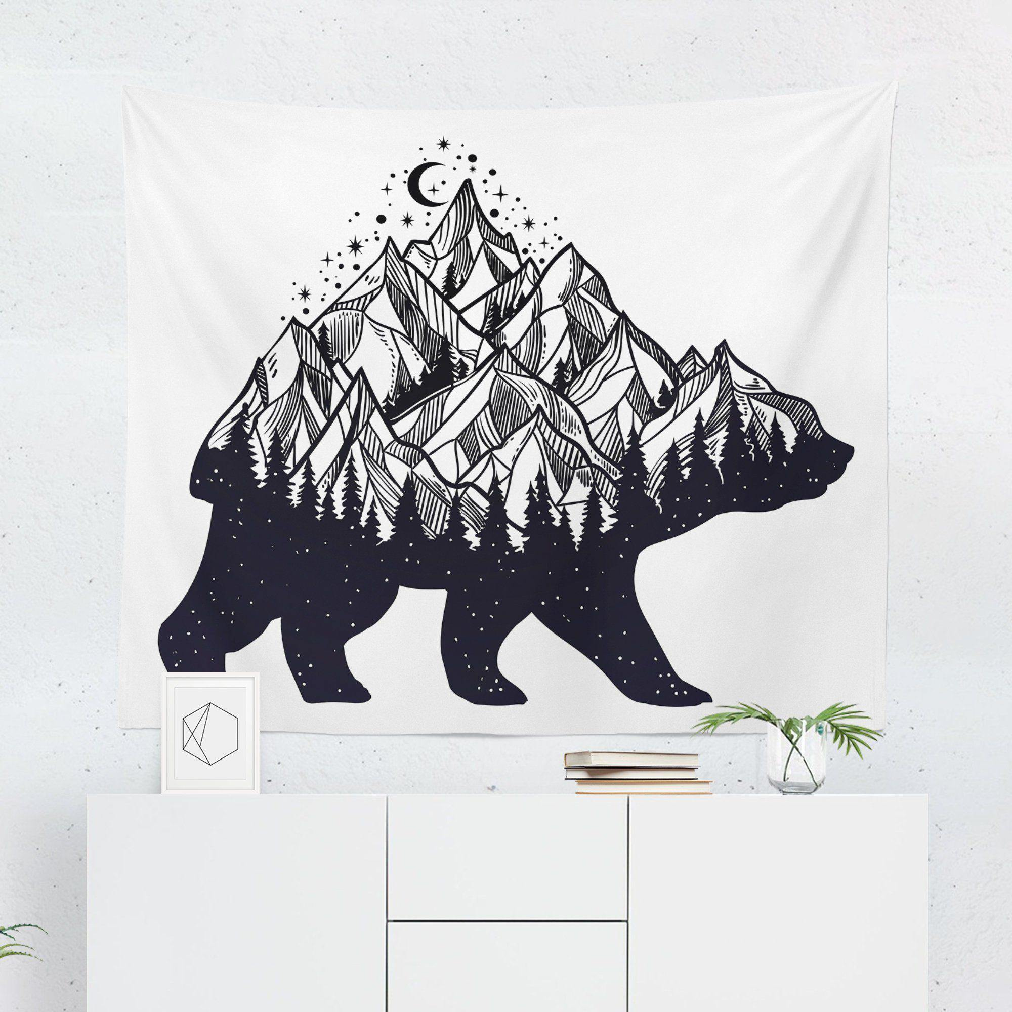 "Bear ""Mountain Wilderness"" Tapestry-W.FRANCIS"