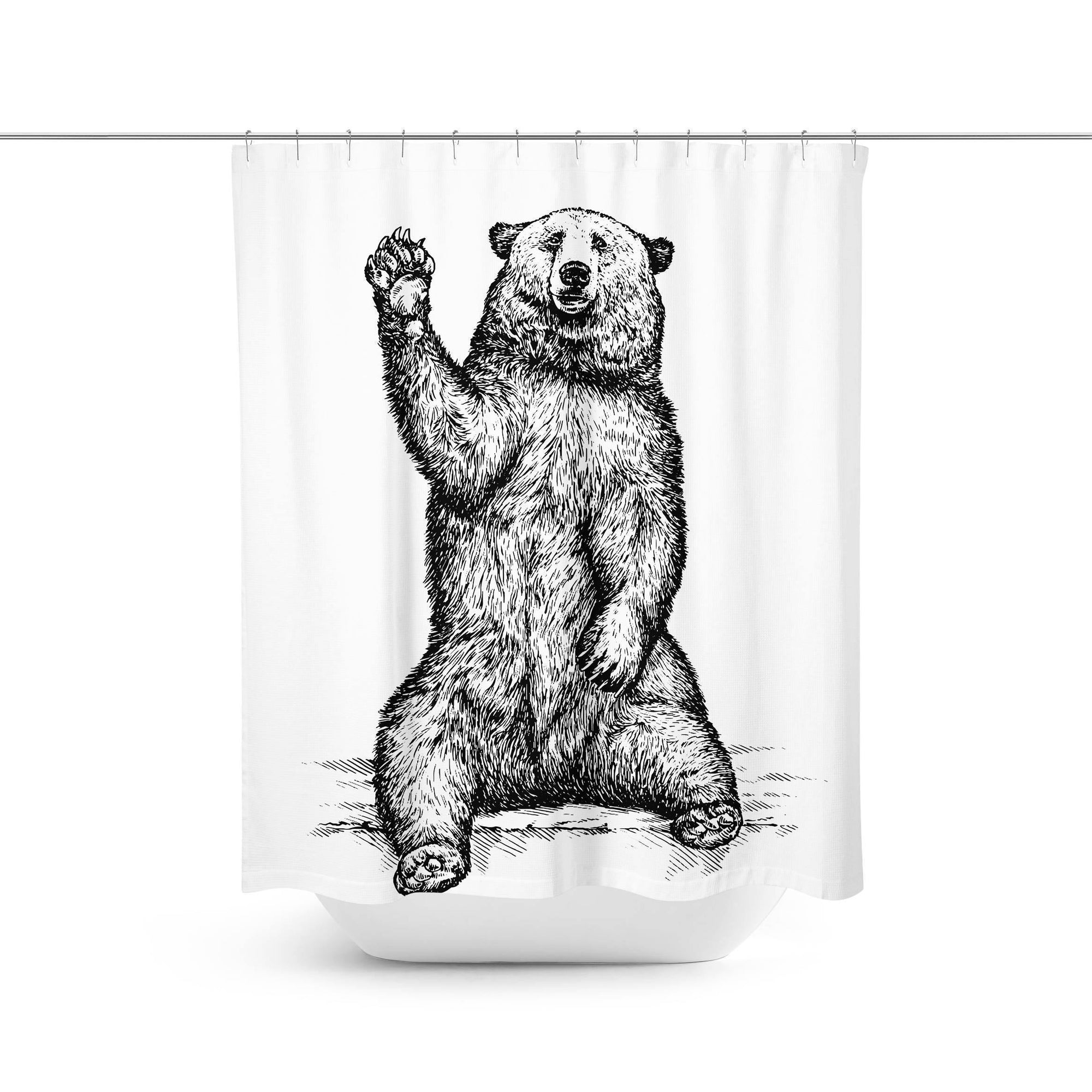 Bear Shower Curtain-W.FRANCIS
