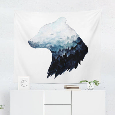 "Bear ""Watercolor Mountain"" Tapestry - Tapestries - W.FRANCIS"