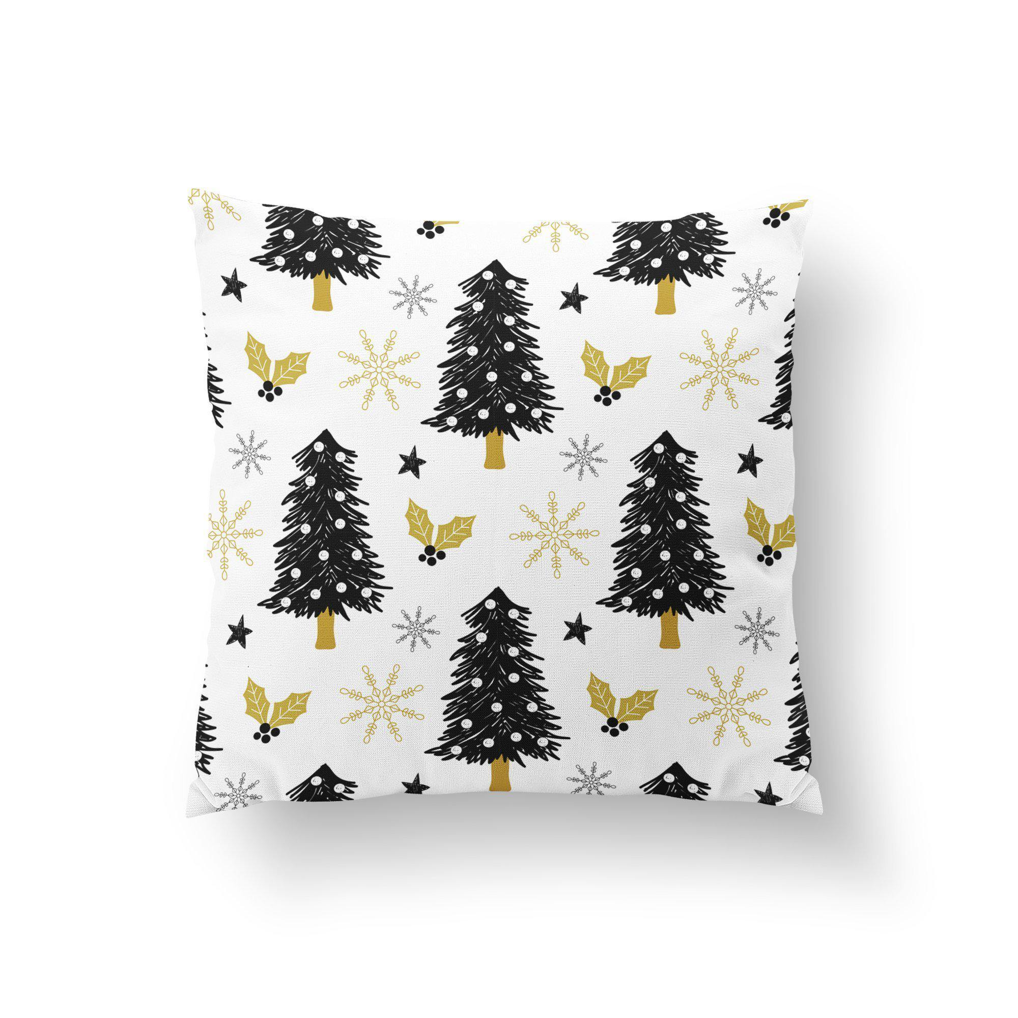 Black and White Christmas Pillow Cover - Pillow Covers - W.FRANCIS