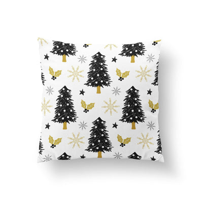 Black and White Christmas Pillow Cover-W.FRANCIS