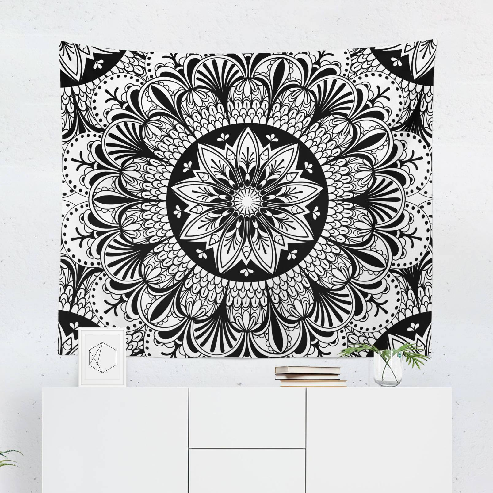 Black and White Wall Tapestry-W.FRANCIS