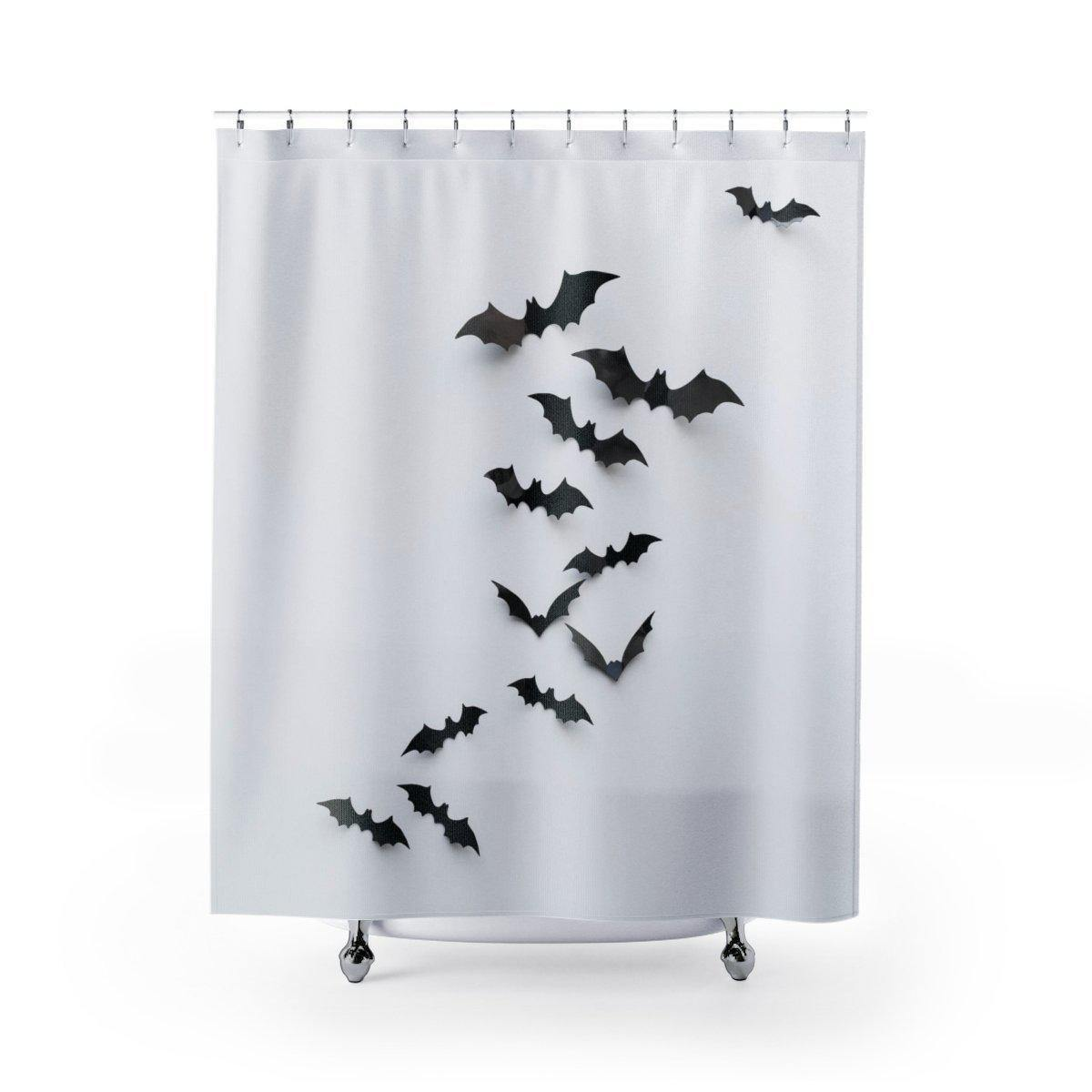 Black Bat Shower Curtain-W.FRANCIS