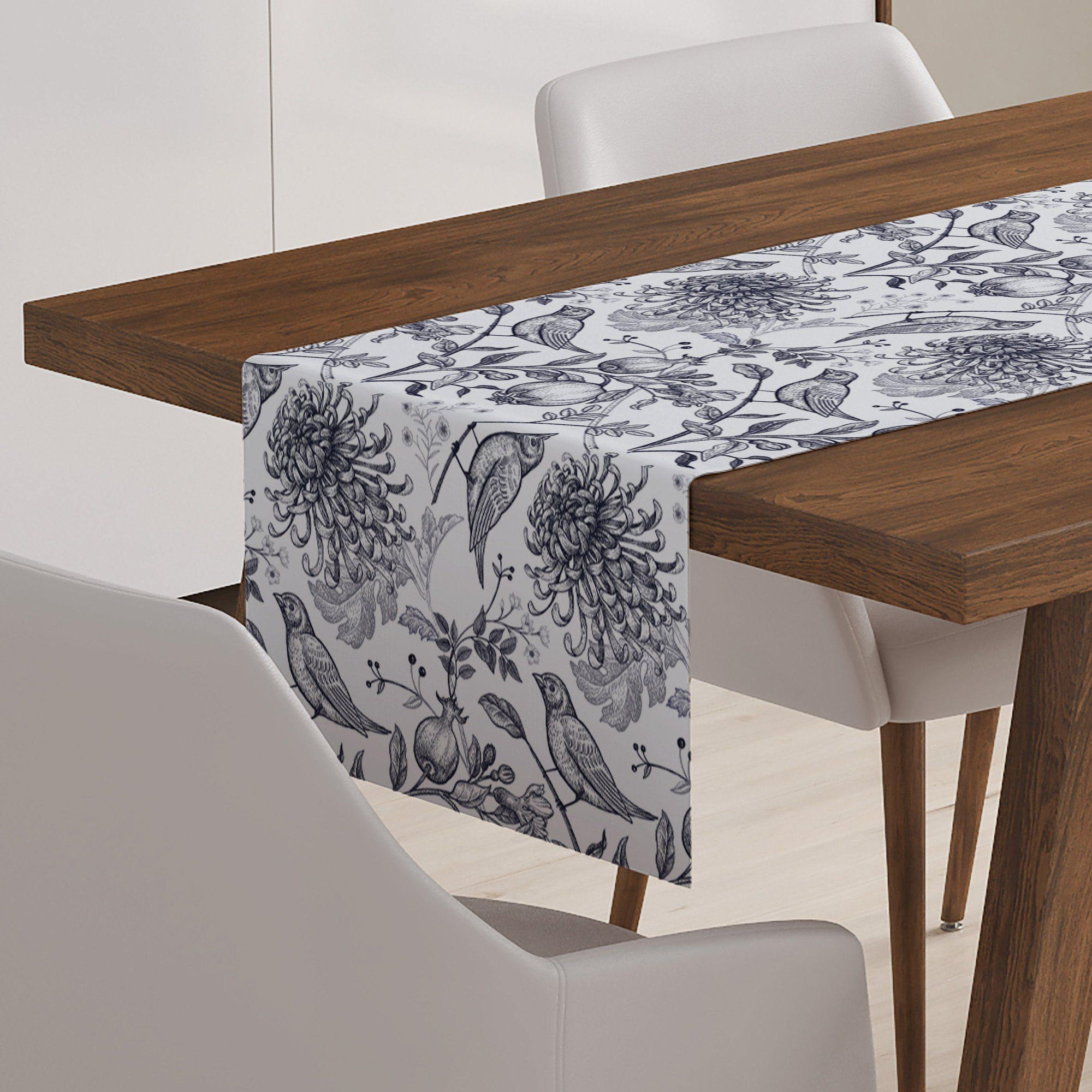 Black Bird Table Runner - Table Runners - W.FRANCIS