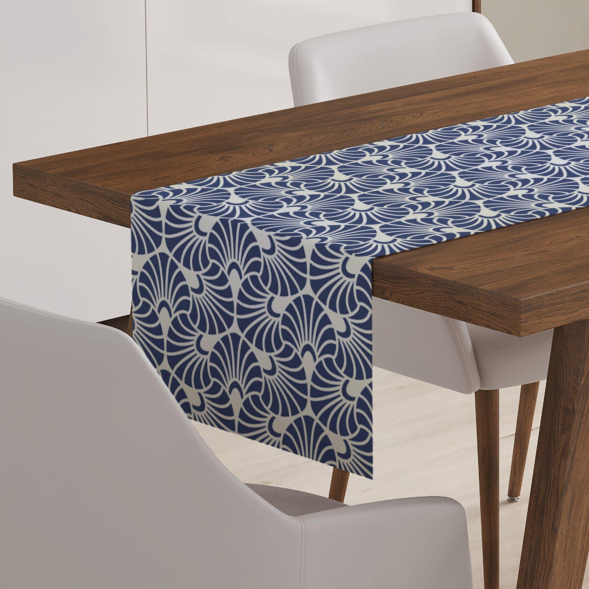 Blue and White Table Runner-W.FRANCIS