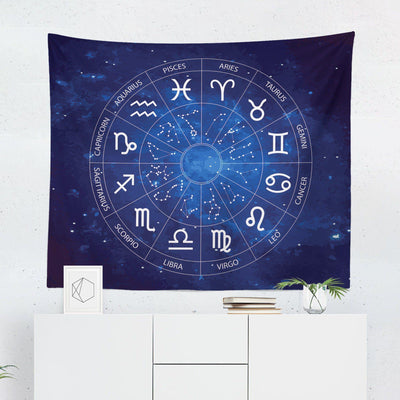 "Blue Astrology ""Night Sky"" Tapestry-W.FRANCIS"