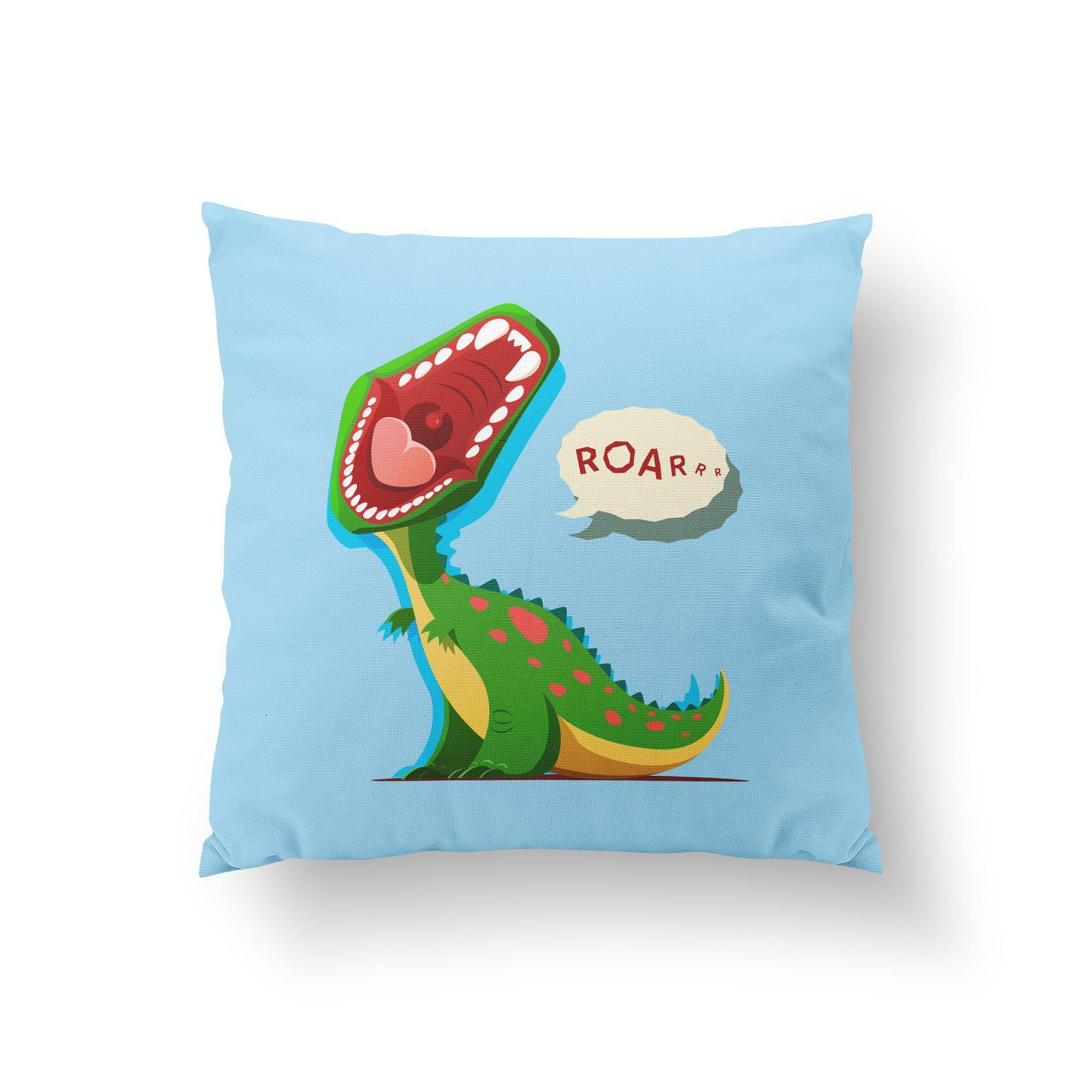 Blue Dinosaur Throw Pillow-W.FRANCIS