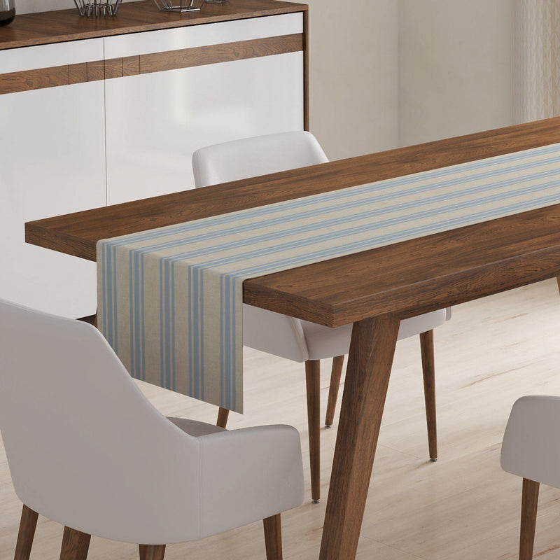 Blue Ticking Table Runner-W.FRANCIS