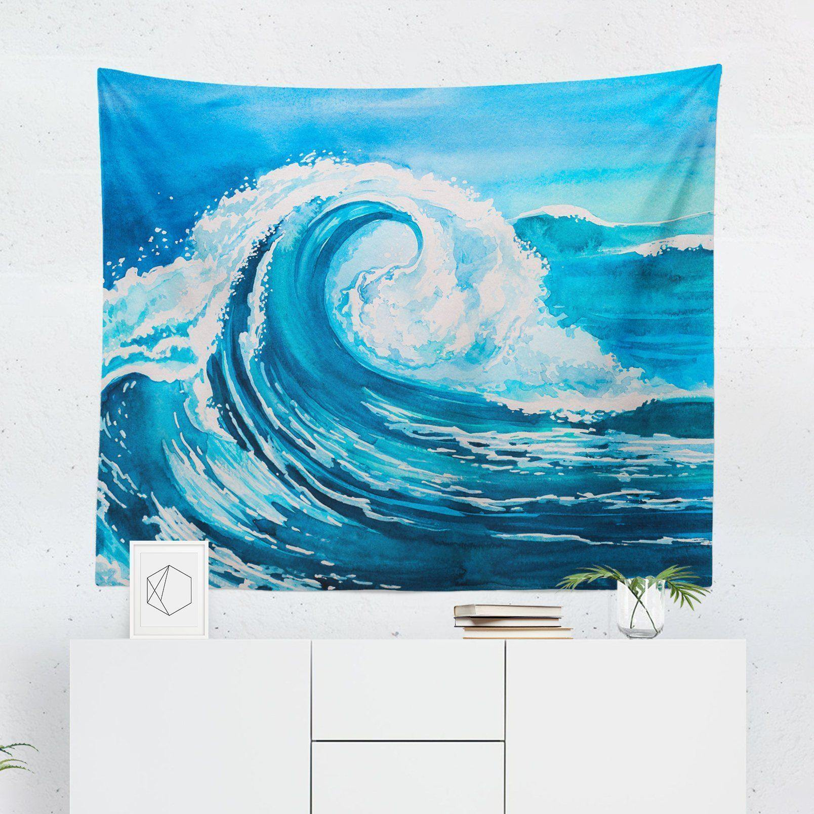 Blue Wave Tapestry-W.FRANCIS