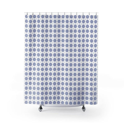 Blue & White Shower Curtain-W.FRANCIS