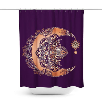 Boho Crescent Moon Shower Curtain-W.FRANCIS