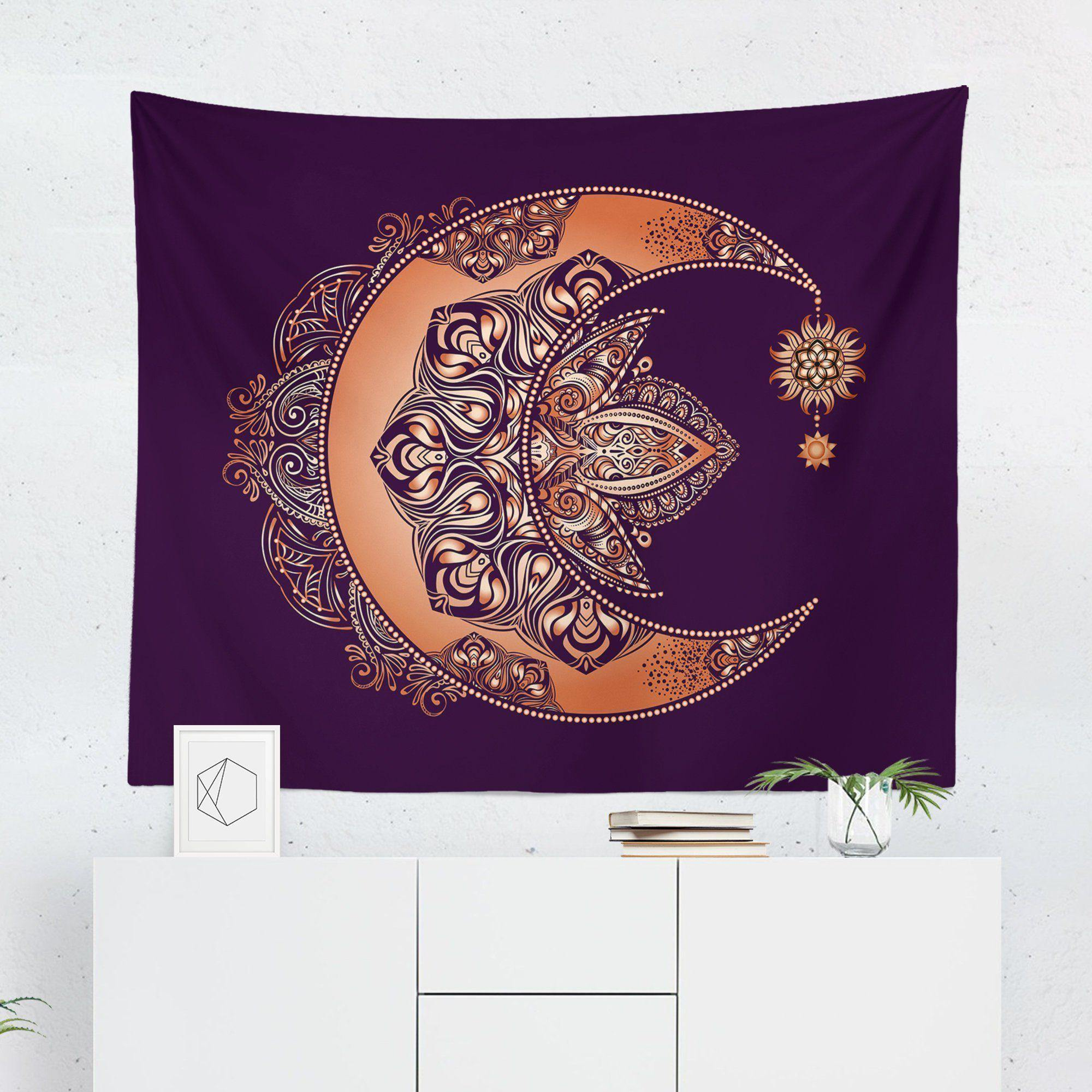 Boho Crescent Moon Wall Tapestry-W.FRANCIS