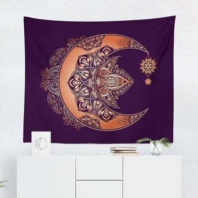 Boho Crescent Moon Wall Tapestry - Tapestries - W.FRANCIS