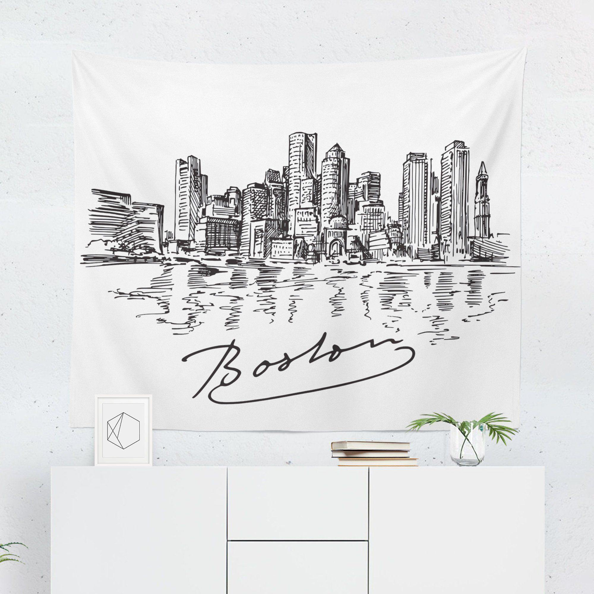 Boston Wall Tapestry-W.FRANCIS