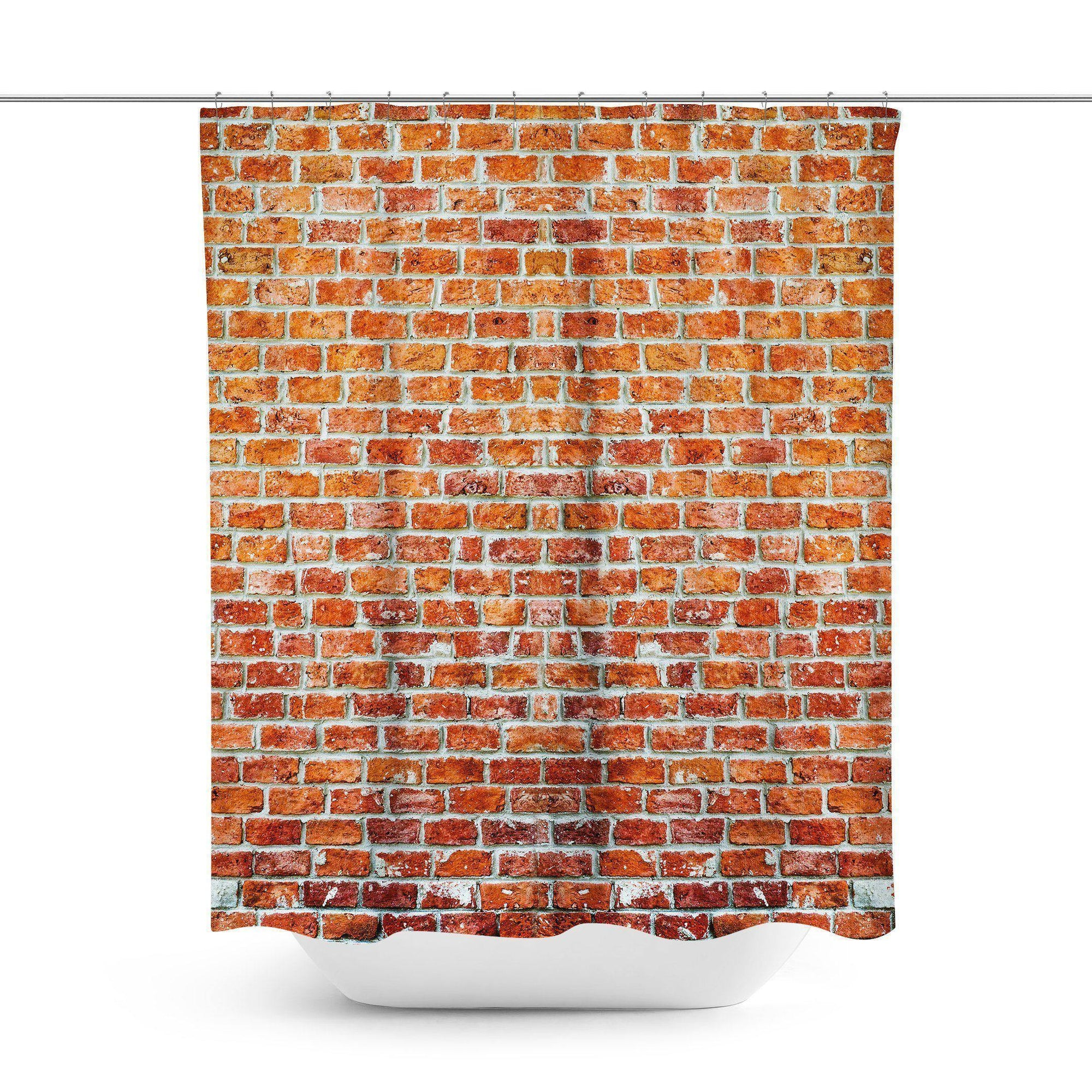 Brick Wall Shower Curtain - Shower Curtains - W.FRANCIS