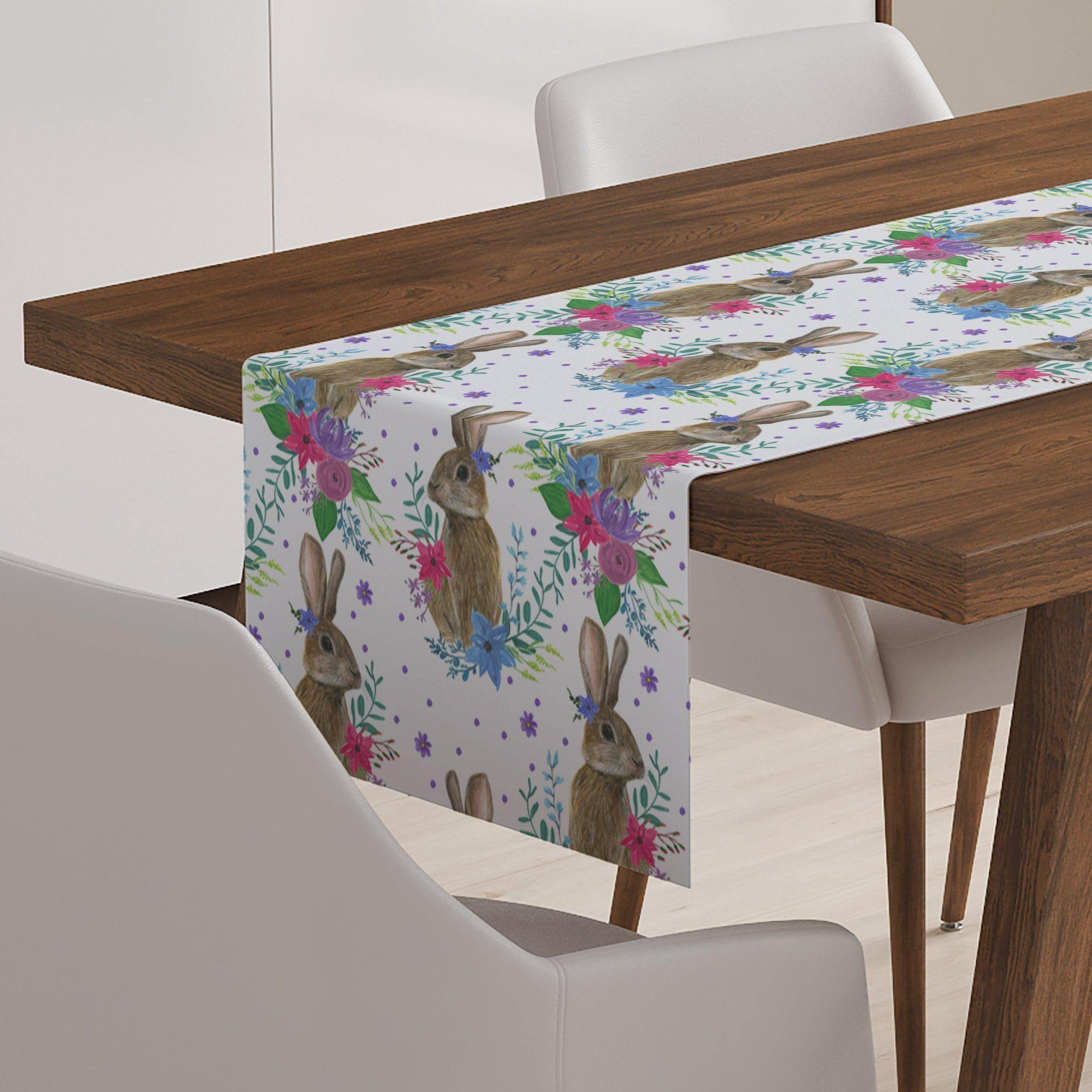 Brown Rabbit Table Runner-W.FRANCIS