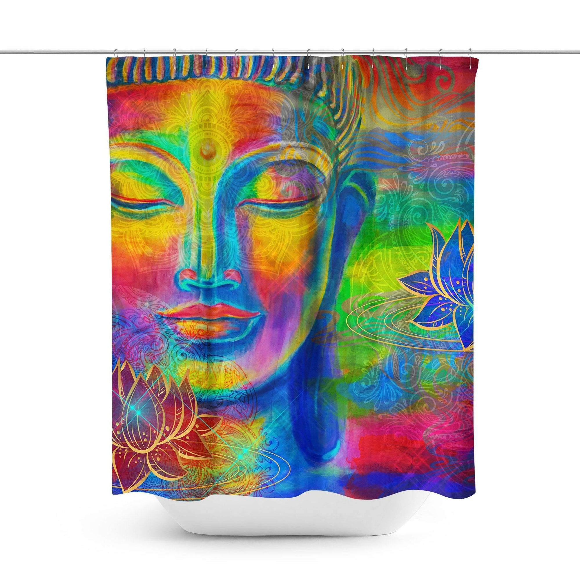 Buddha Shower Curtain-W.FRANCIS