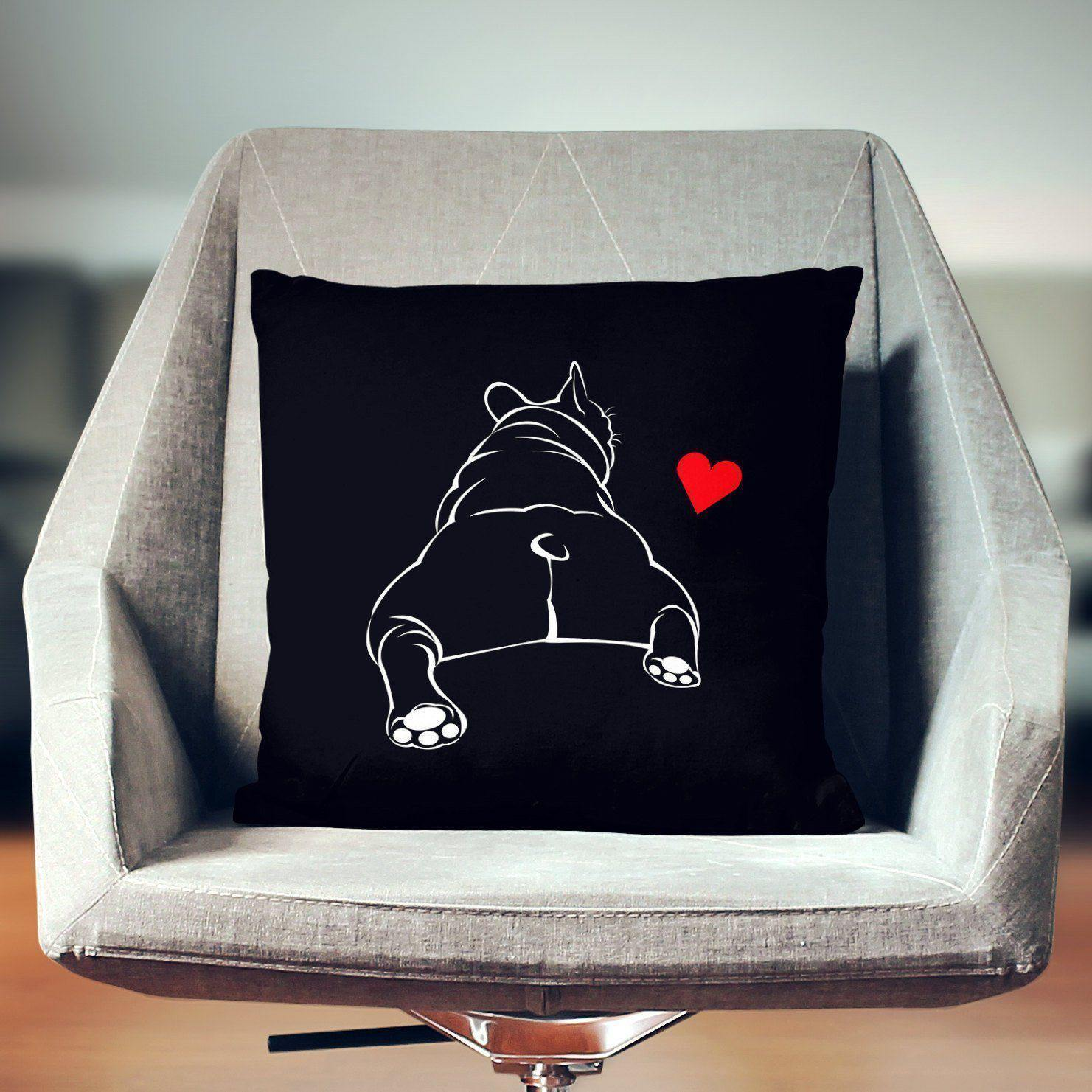 Bulldog Throw Pillow-W.FRANCIS