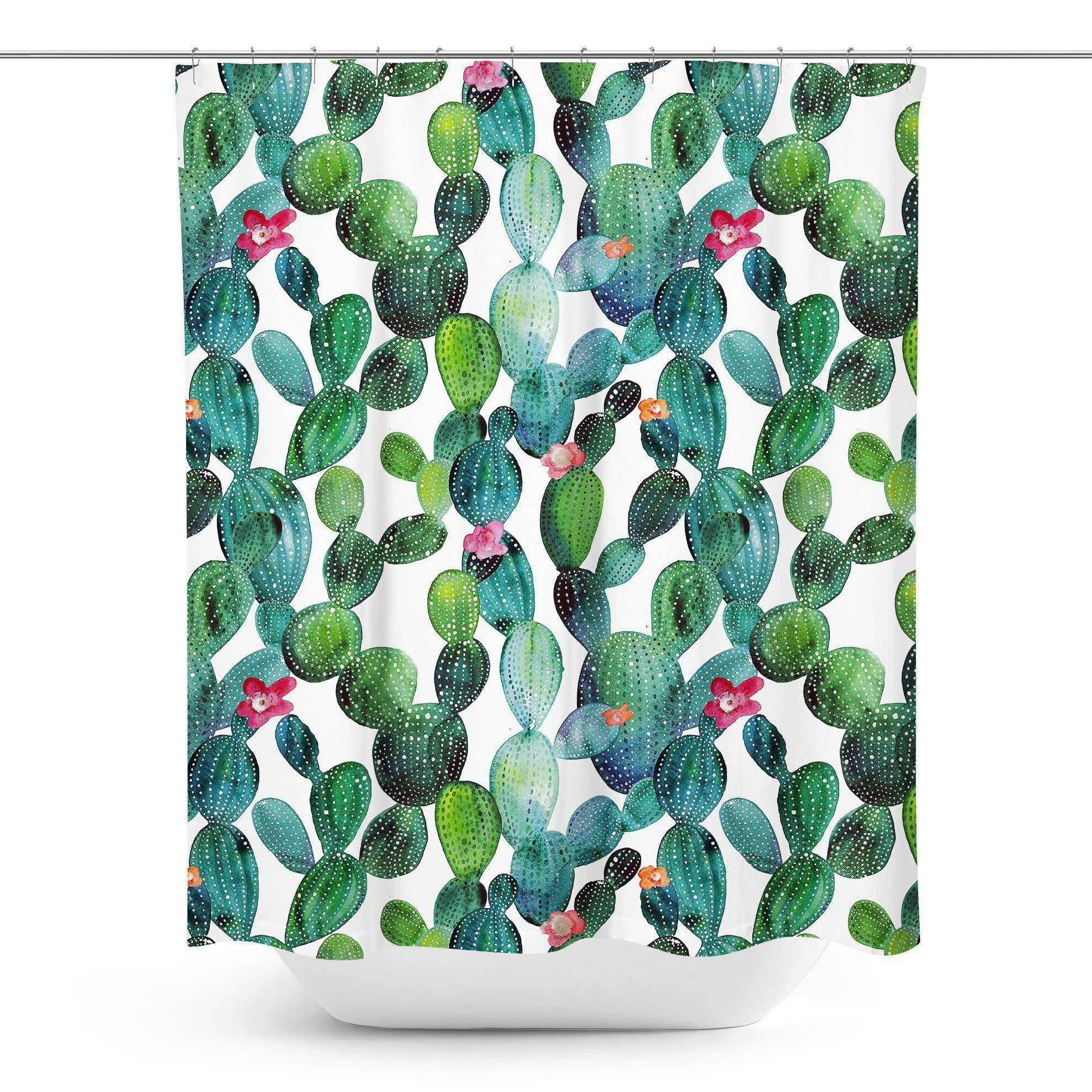 Cactus Shower Curtain - Shower Curtains - W.FRANCIS